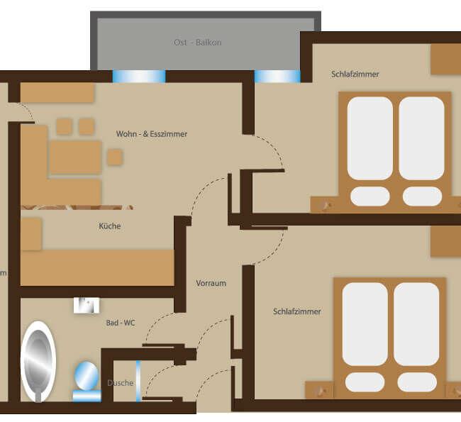 Ferienhaus Johanna - Ferienwohnung 14 - Ansicht
